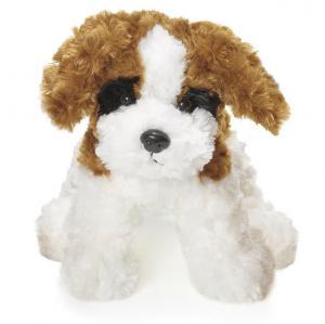 Teddy Dogs, Hvit/Brun/Sort, 25cm - Teddykompaniet