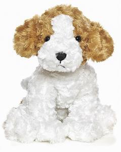Teddy Hund, hvid/brun - Teddykompaniet