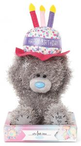 Bamse, Happy Birthday på hat, 15cm - Me To You