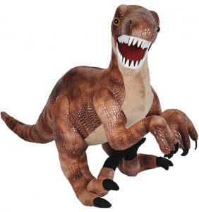 Stor Dinosaur Velociraptor tøjdyr, 70cm