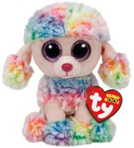 Beanie Boos Rainbow (Flerfarvet puddel) - TY Bamser