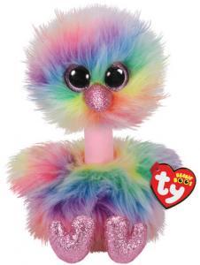 Beanie Boos Asha (Struds i regnbuefarve) - TY Bamser