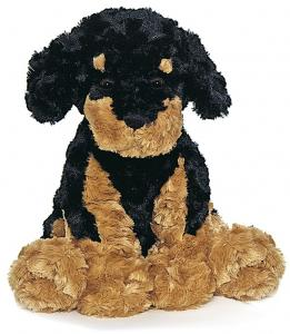 Teddy Hund, sort/brun - Teddykompaniet