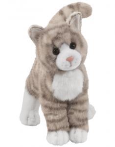 Gråtabby kat, 25cm - Douglas Tøjdyr