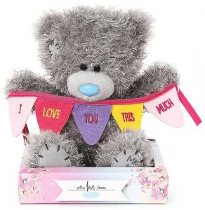 Bamse I love you this much på banner, 15cm - Me To You