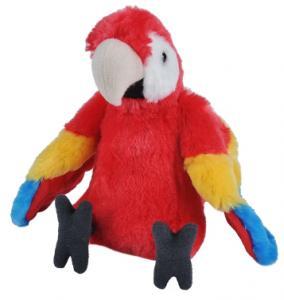 Papegøje (rød), 30cm - Wild Republic