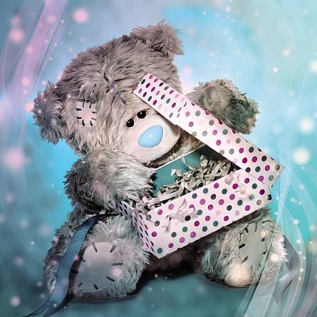 3D-Kort, Bamse åbner fødselsdagsgave - Me To You
