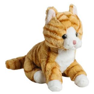 Mollis Rød plettet kat, 20 cm - Molli Toys