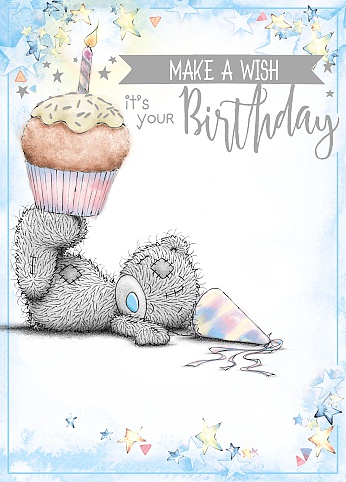 Kort, It's your birthday, bamse med Cupcake - Me To You