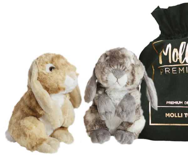 Premium Kanin, 18cm - Molli Toys (Beige)