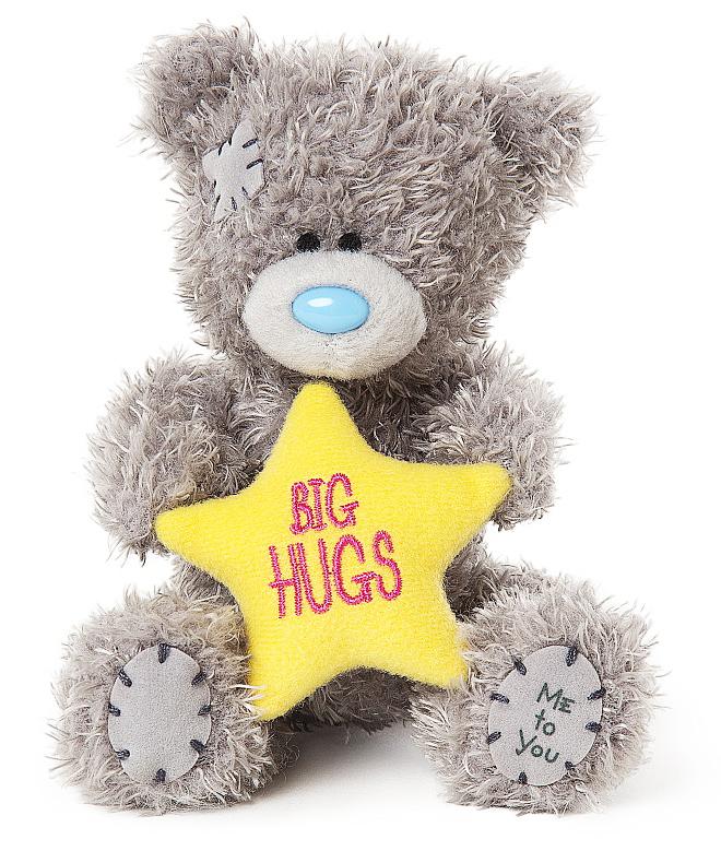 Bamse Big Hugs on star, 10cm - Me to you