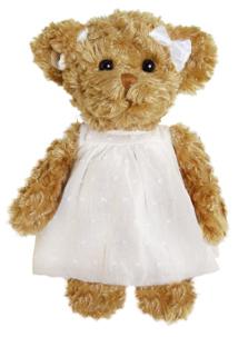 Bamse Hedvig, 25cm - Bukowski Design (Blå, blomster kjole)