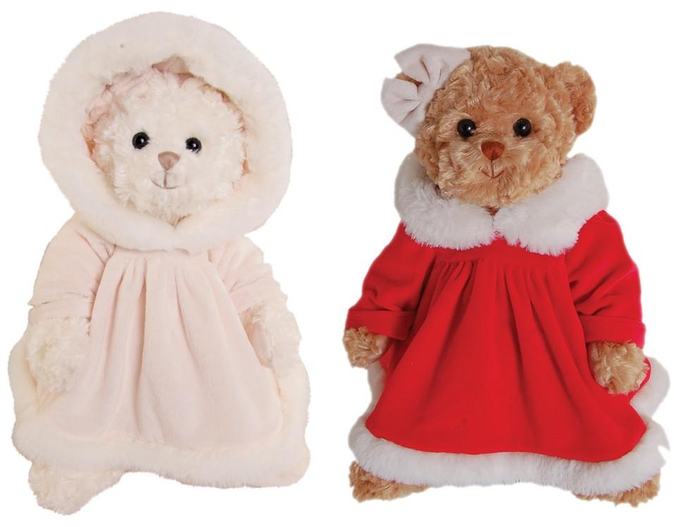 Little Teresa Julebamse, 25cm - Bukowski Design (Brun bamse med rød kjole)
