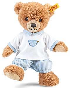 Bamse med blå pyjamas, 25cm - Steiff bamse