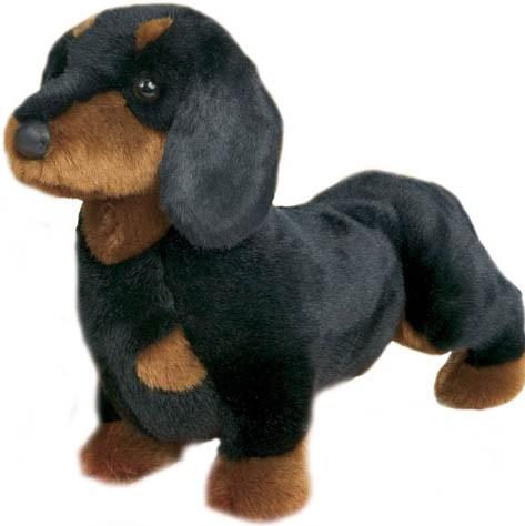 Gravhund Sort/Brun - Douglas tøjdyr