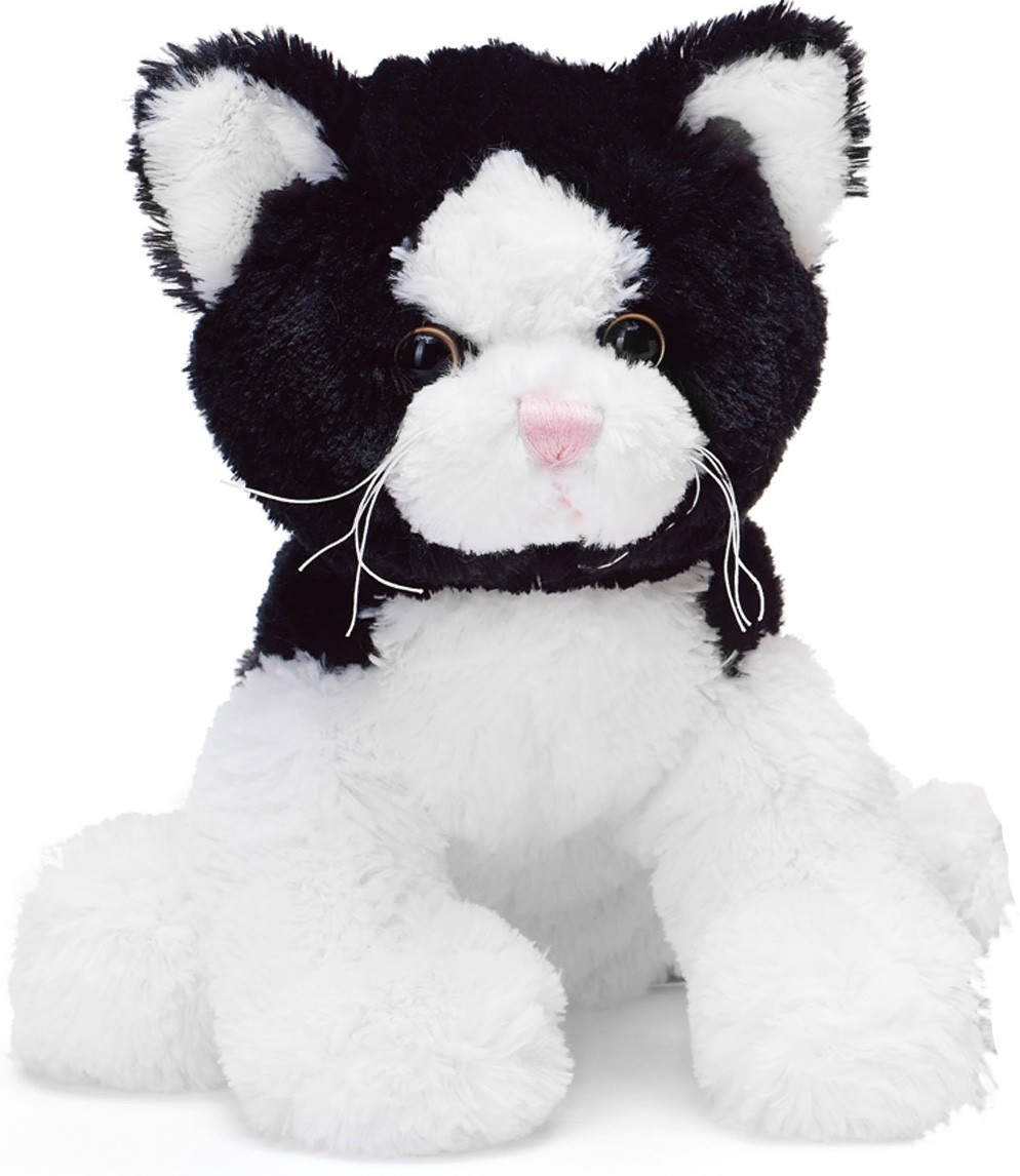 Teddy Kat, sort/hvid - Teddykompaniet