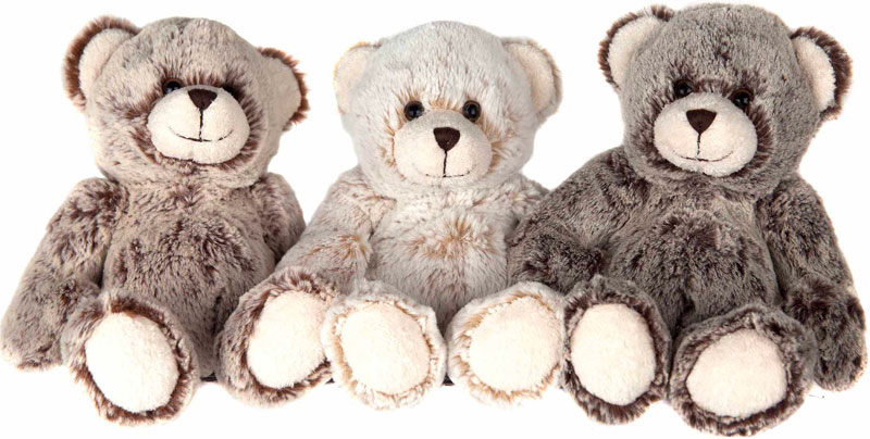 Teddybjørn (16cm) - Molli toys (Lysebrun)