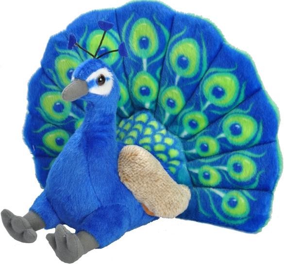 Påfugl, 30cm - Wild Republic