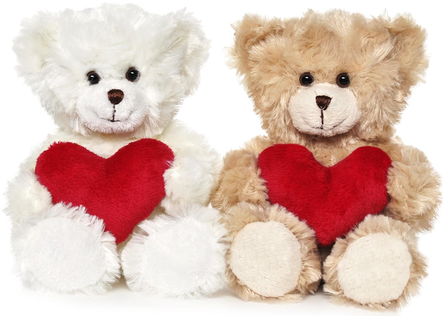 Bamse Samuel, 18cm - Teddykompaniet (Hvid)