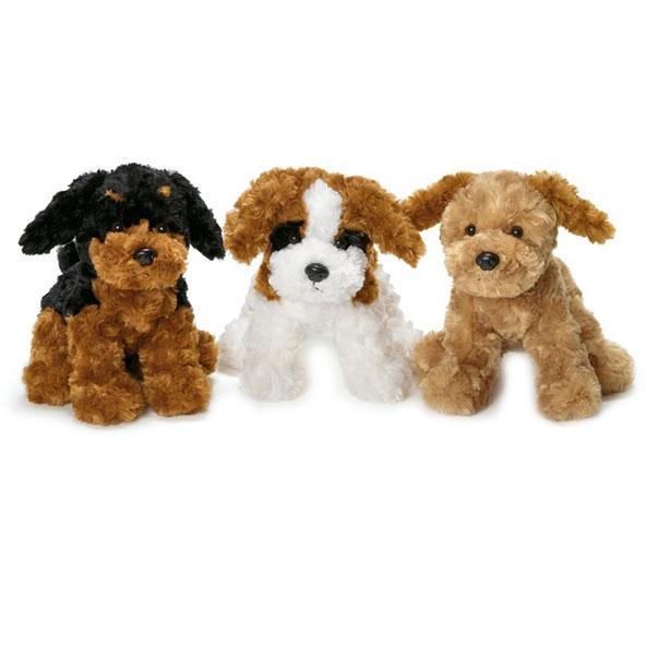 Teddy Dogs, 25cm - Teddykompaniet (Hvit / Brun / Sort)