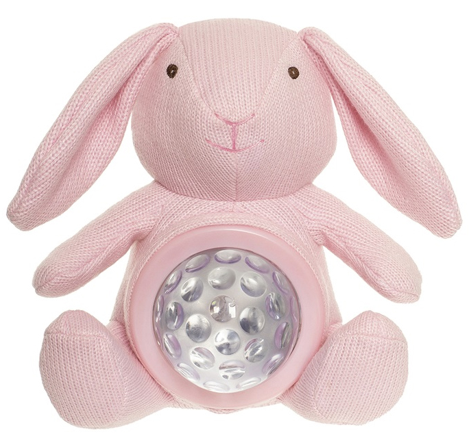 Teddy Lights Natlampe Kanin, lyserød - Teddykompaniet