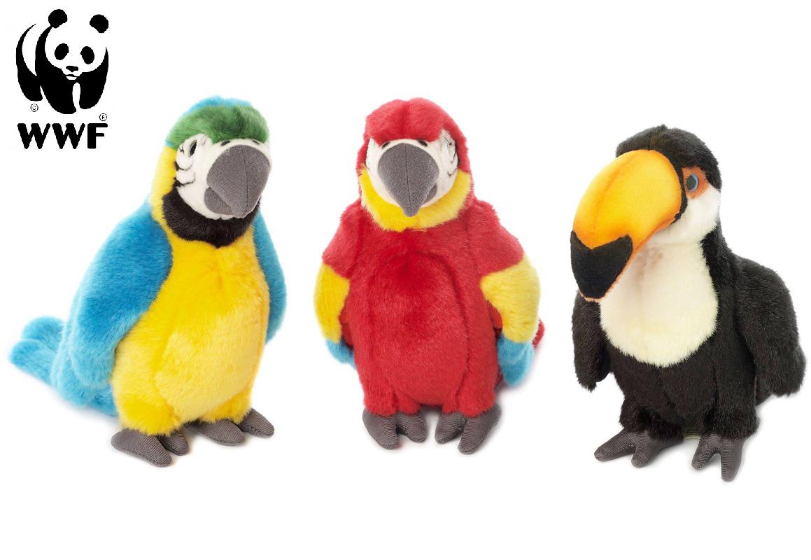 Tropiske fugle - WWF (Verdensnaturfonden) (Papegøje Röd Ara)